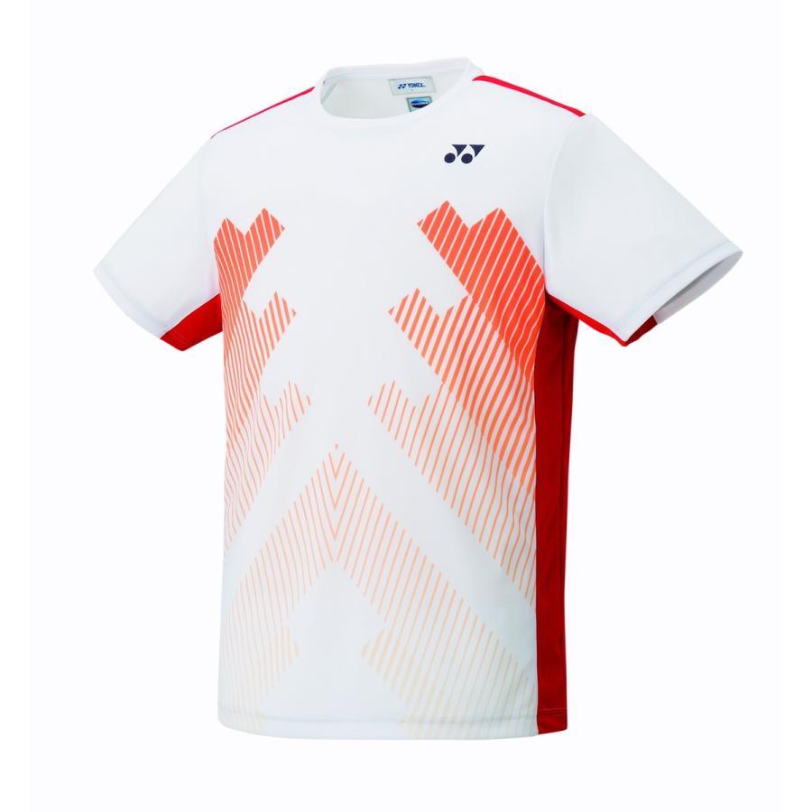 ヨネックス YONEX 10320 ユニゲームシャツ(フィットスタイル) テニス・バドミントン ウェア(ユニ) ホワイト