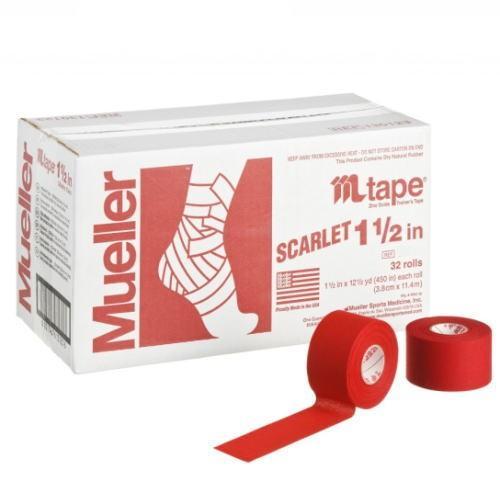 Mueller ミューラー テーピング Mテープチームカラー スカーレット 38mm 32個入り 130822[T]