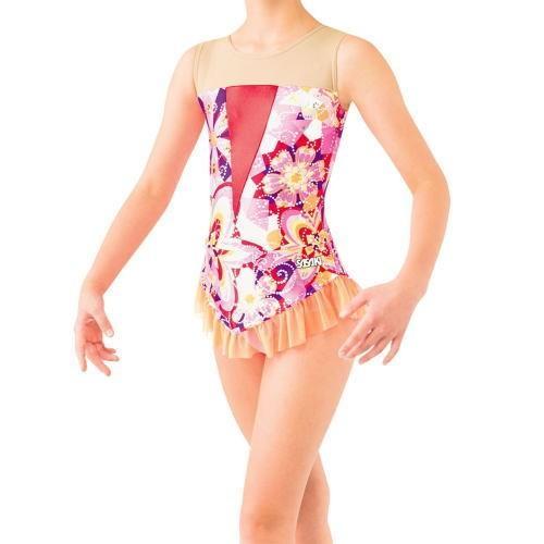 SASAKI ササキスポーツ 新体操 スカート付きレオタード(大人用) 7368S Pピンク<在庫僅少>
