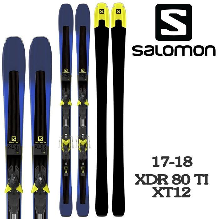 2018 SALOMON サロモン スキー 板 ビンディング 金具 XDR 80 Ti + XT12 17-18