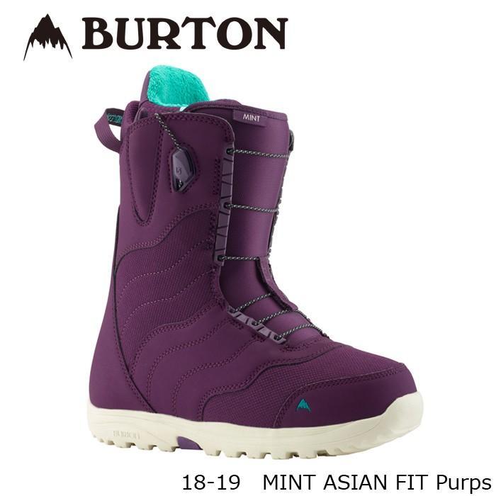 特典あり バートン ブーツ 18-19 BURTON MINT ASIAN FIT Purps ミント アジアンフィット 日本正規品