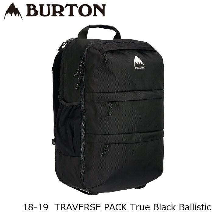 バートン バッグ 18-19 BURTON TRAVERSE PACK True 黒 Ballistic バックパック 日本正規品