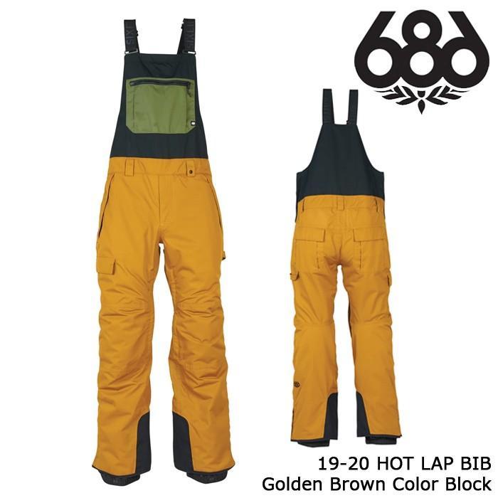 シックスエイトシックス ウェア ビブパンツ 19-20 686 HOT LAP BIB ゴールドen 褐色 Color Block 日本正規品 予約