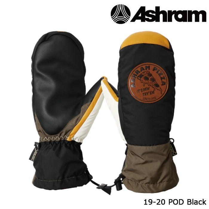 アシュラム ミット 19-20 ASHRAM POD 黒 ポッド ゴアテックス ミトン 日本正規品 予約