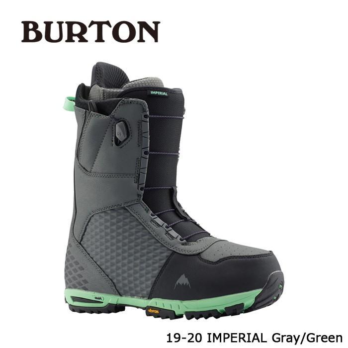 クーポンで更に10%OFF 特典あり バートン ブーツ 19-20 BURTON IMPERIAL Gray/緑 インペリアル 日本正規品
