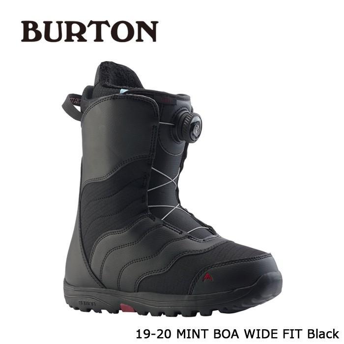 クーポンで更に10%OFF 特典あり バートン ブーツ 19-20 BURTON MINT BOA - WIDE FIT 黒 ミント ボア ワイドフィット 日本正規品 予約