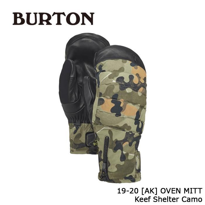 クーポンで更に10%OFF バートン ミット 19-20 BURTON [AK] OVEN MITT Keef Shelter Camo ミトン 日本正規品