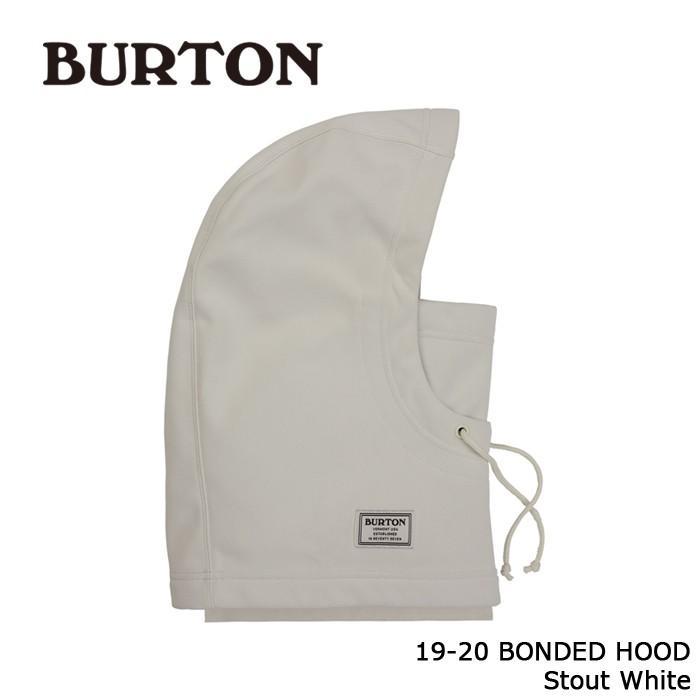 クーポンで更に10%OFF バートン 19-20 BURTON BONDED HOOD Stout 白い フェイスマスク ネックウォーマー 日本正規品