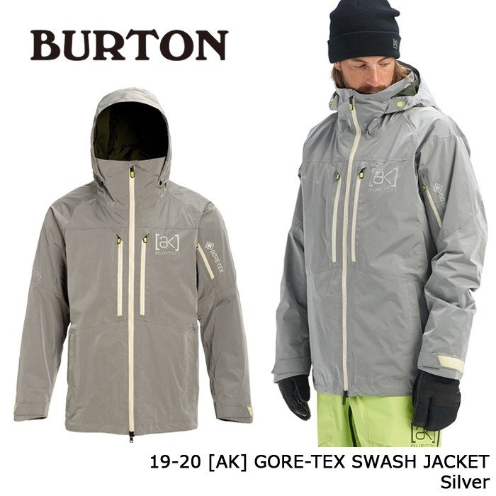 クーポンで更に10%OFF バートン ウェア ジャケット 19-20 BURTON [AK] GORE-TEX SWASH JACKET 銀 ゴアテックス 日本正規品