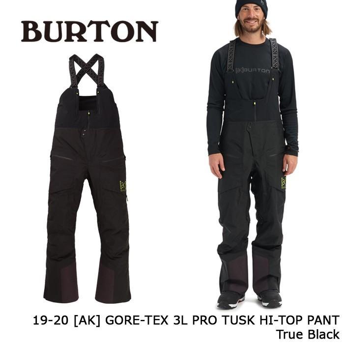 クーポンで更に10%OFF バートン ウェア パンツ 19-20 BURTON [AK] GORE-TEX 3L PRO TUSK HI-TOP PANT True Black ゴアテックス 日本正規品