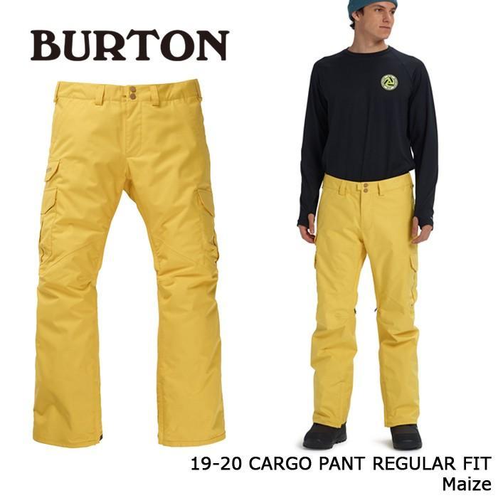 クーポンで更に10%OFF バートン ウェア カーゴパンツ 19-20 BURTON CARGO PANT REGULAR FIT Maize 日本正規品 予約