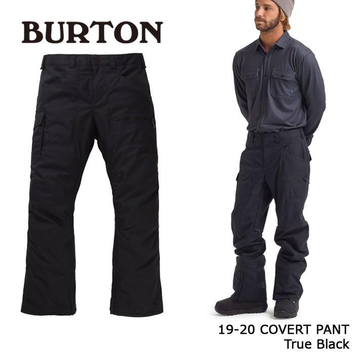 クーポンで更に10%OFF バートン ウェア パンツ 19-20 BURTON COVERT PANT True 黒 日本正規品 予約