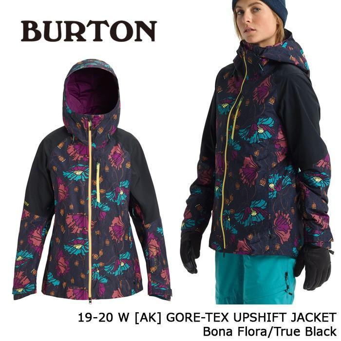 クーポンで更に10%OFF バートン ウェア ジャケット 19-20 BURTON WOMEN'S [AK] GORE-TEX UPSHIFT JACKET Bona Flora/True 黒 ゴアテックス 日本正規品