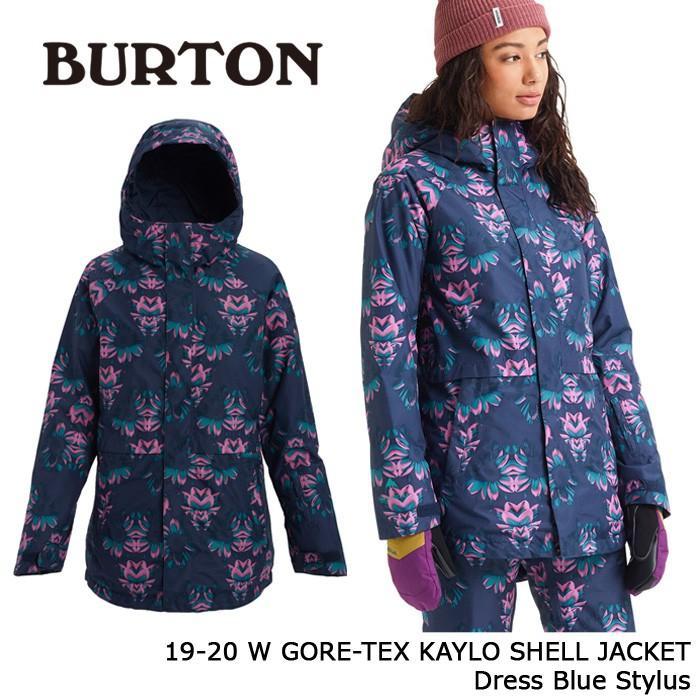 クーポンで更に10%OFF バートン ウェア ジャケット 19-20 BURTON WOMEN'S GORE-TEX KAYLO SHELL JACKET Dress 青 Stylus ゴアテックス 日本正規品 予約