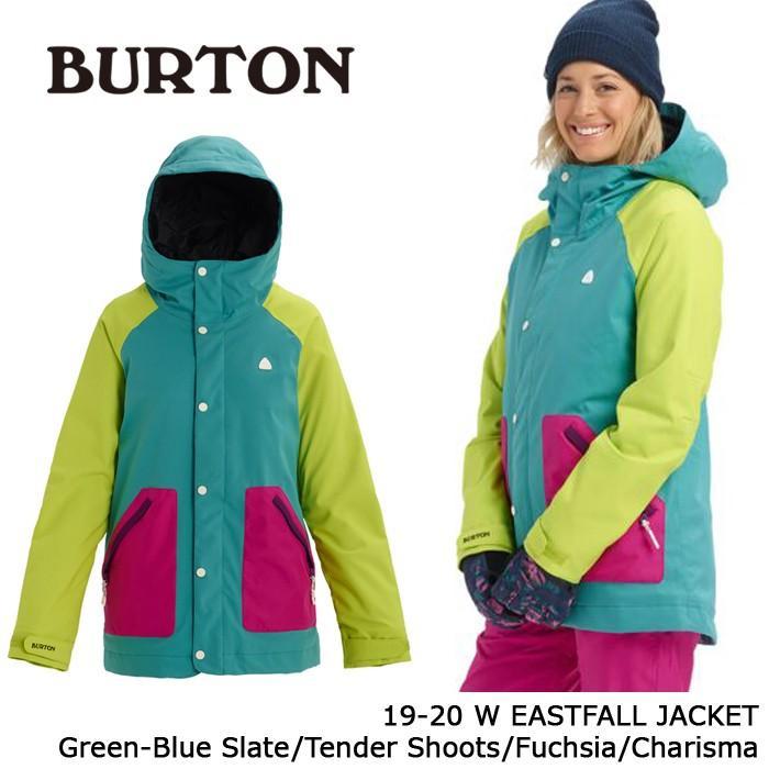 クーポンで更に10%OFF バートン ウェア ジャケット 19-20 BURTON WOMEN'S EASTFALL JACKET 緑-青 Slate/Tender Shoots/Fuchsia/Charisma 日本正規品 予約