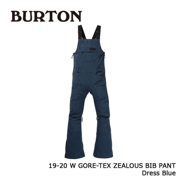 クーポンで更に10%OFF バートン ウェア ビブパンツ 19-20 BURTON WOMEN'S GORE-TEX ZEALOUS BIB PANT Dress 青 ゴアテックス 日本正規品