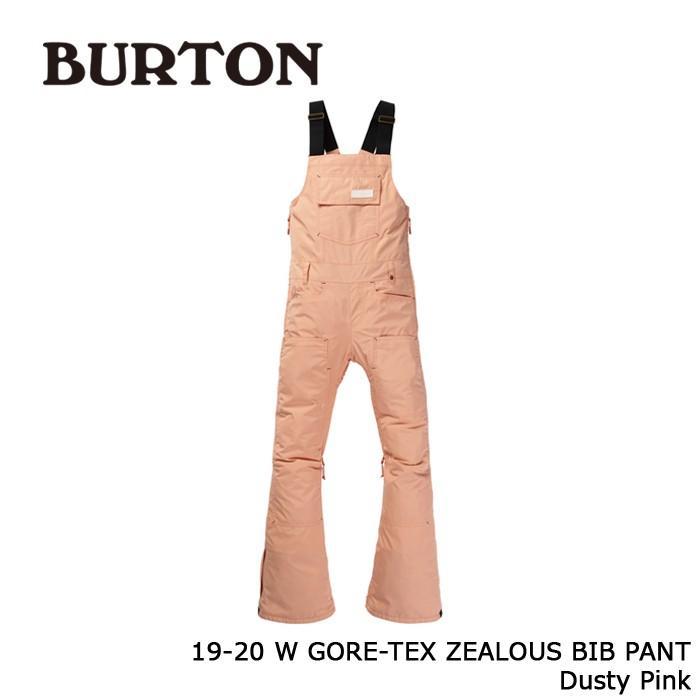 クーポンで更に10%OFF バートン ウェア ビブパンツ 19-20 BURTON WOMEN'S GORE-TEX ZEALOUS BIB PANT Dusty ピンク ゴアテックス 日本正規品