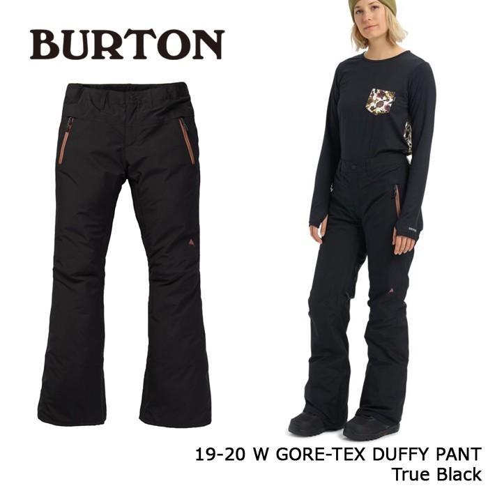 クーポンで更に10%OFF バートン ウェア パンツ 19-20 BURTON WOMEN'S GORE-TEX DUFFY PANT True 黒 ゴアテックス 日本正規品