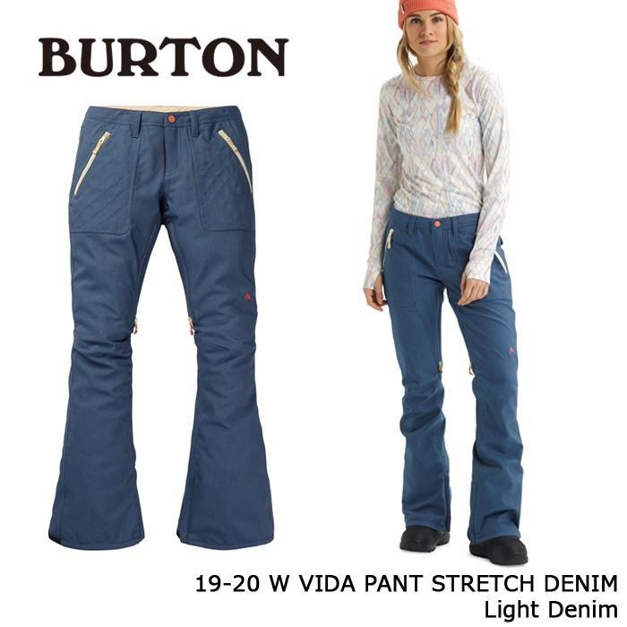 クーポンで更に10%OFF バートン ウェア パンツ 19-20 BURTON WOMEN'S VIDA PANT STRETCH DENIM Light Denim 日本正規品