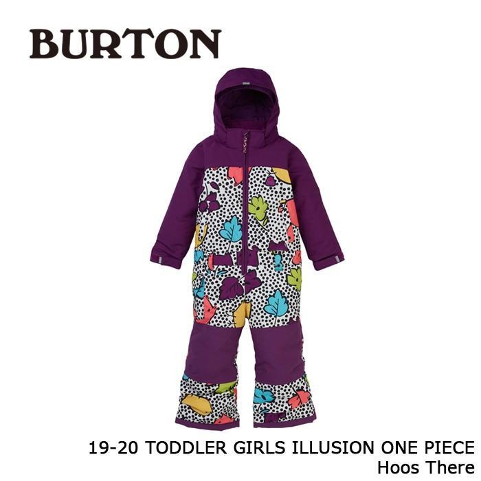 クーポンで更に10%OFF バートン ウェア ワンピース 19-20 BURTON TODDLER GIRLS' ILLUSION ONE PIECE Hoos There キッズ ジャケット パンツ 日本正規品