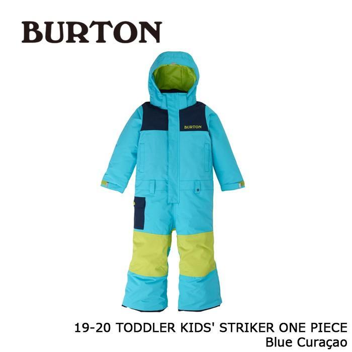 クーポンで更に10%OFF バートン ウェア ワンピース 19-20 BURTON TODDLER KIDS' STRIKER ONE PIECE 青 Curacao キッズ ジャケット パンツ 日本正規品