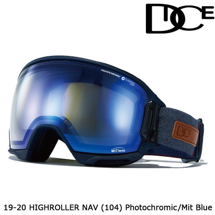 ダイス ゴーグル 19-20 DICE HIGH ROLLER NAV(104) PHOTOCHROMIC/MIT 青 HR95191NAV ジャパンフィット 日本正規品