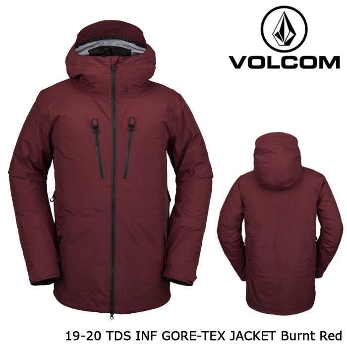ボルコム ウェア ジャケット ジャケット ジャケット 19-20 VOLCOM TDS INF GORE-TEX JACKET Burnt 赤 G0452000 ゴアテックス 日本正規品 e1e