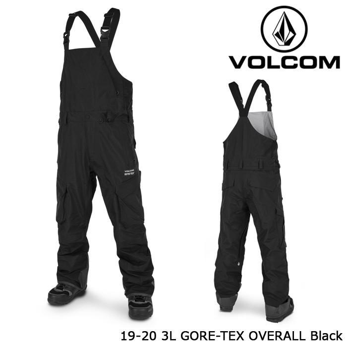 ボルコム ウェア オーバーオール 19-20 VOLCOM 3L GORE-TEX OVERALL 黒 G1352017 パンツ ゴアテックス 日本正規品 予約