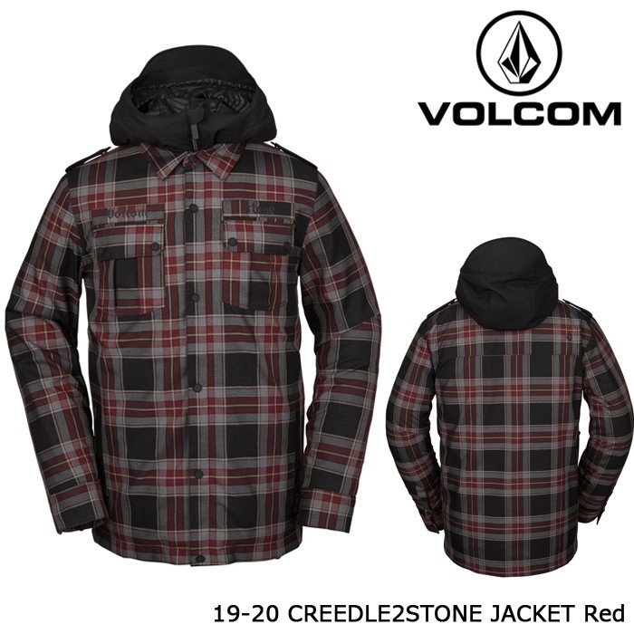 ボルコム ウェア ジャケット 19-20 VOLCOM CREEDLE2STONE JACKET 赤 G0652006 日本正規品 予約