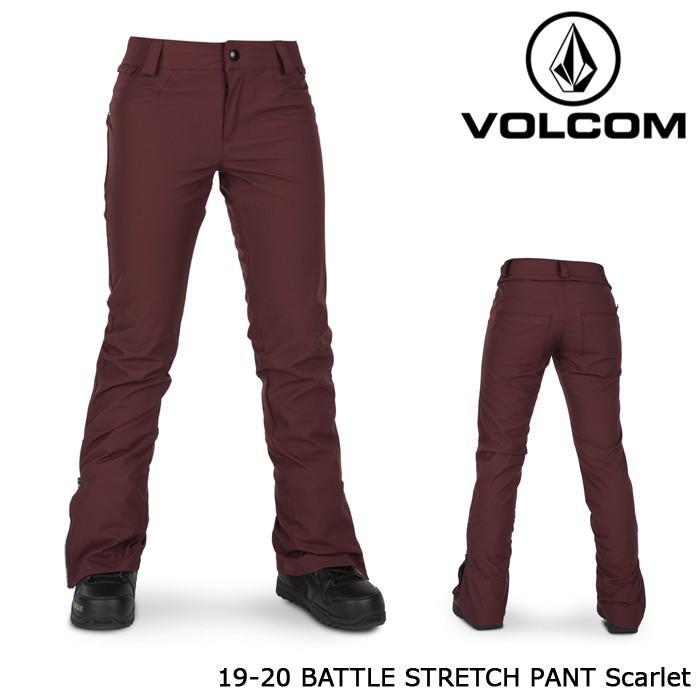 ボルコム ウェア パンツ 19-20 VOLCOM WOMEN'S BATTLE STRETCH PANT Scarlet H1352006 日本正規品 予約