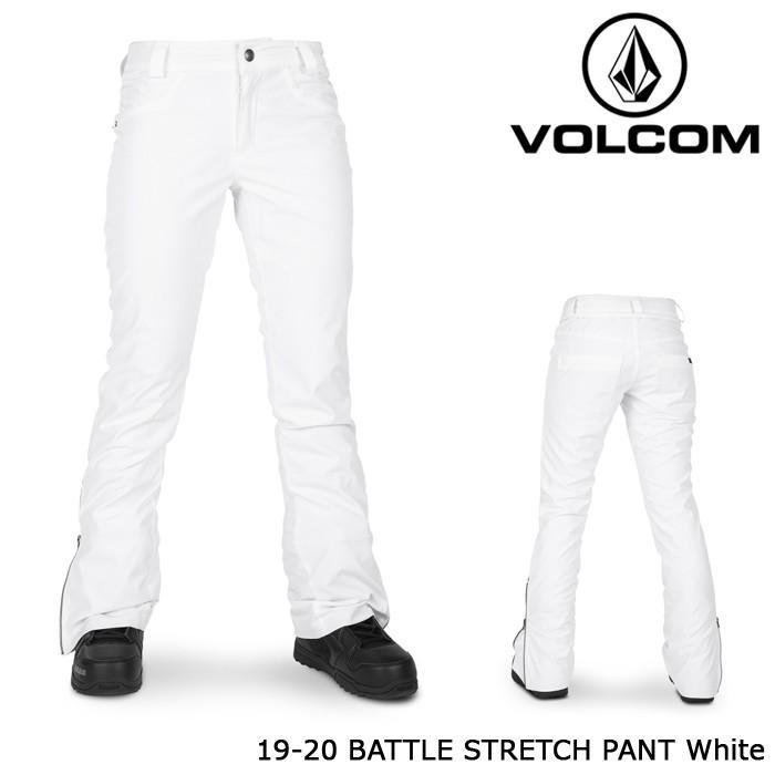 ボルコム ウェア パンツ 19-20 VOLCOM WOMEN'S BATTLE STRETCH PANT 白い H1352006 日本正規品 予約