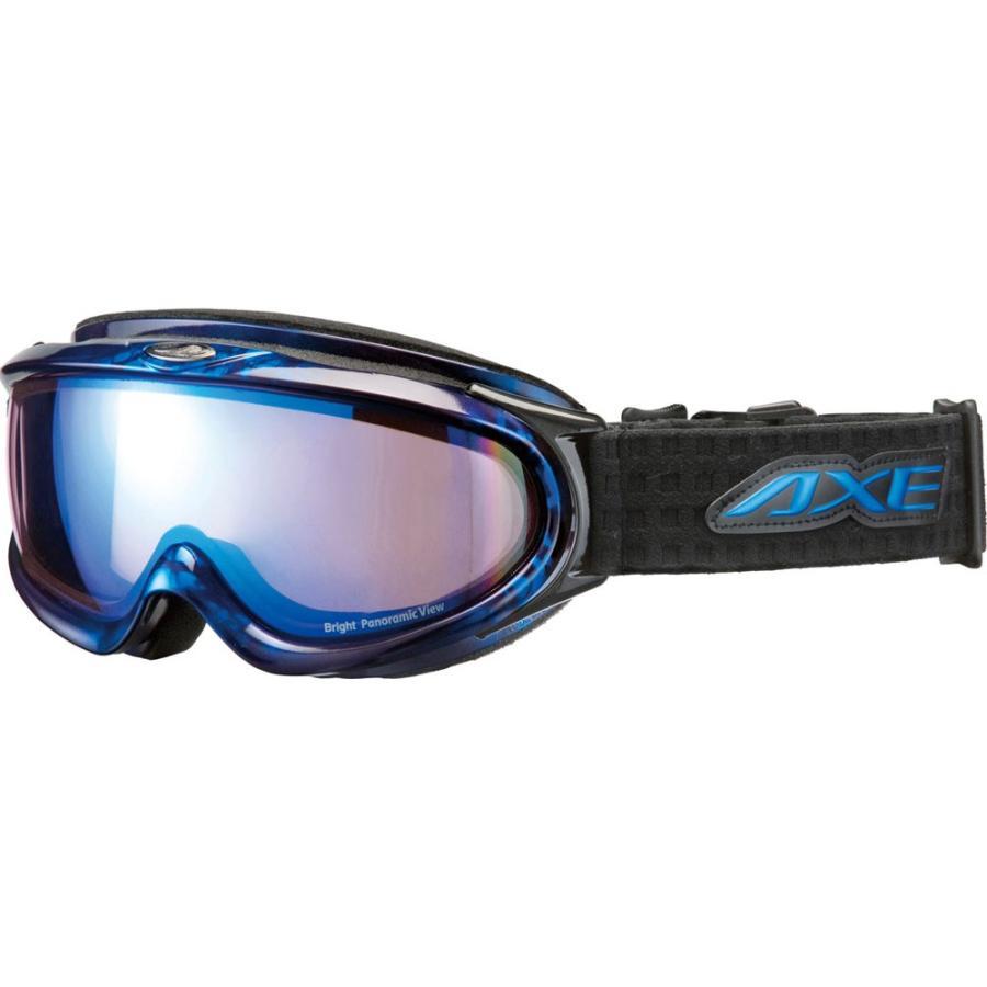 AXE アックス (メンズ) スノーゴーグル UVカット AX888WBU マーブルブルー