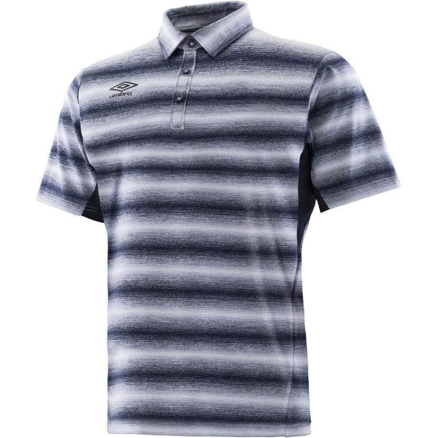 UMBRO アンブロ URA.グラデーションポロシャツ メンズ サッカー・フットサルウェア UMULJA70 ホワイト