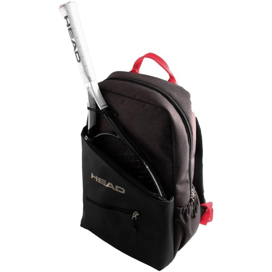 HEAD ヘッド テニス リュック (ラケット1本収納可能) レディース用 バックパック グレー×赤 283289 GRAY/赤