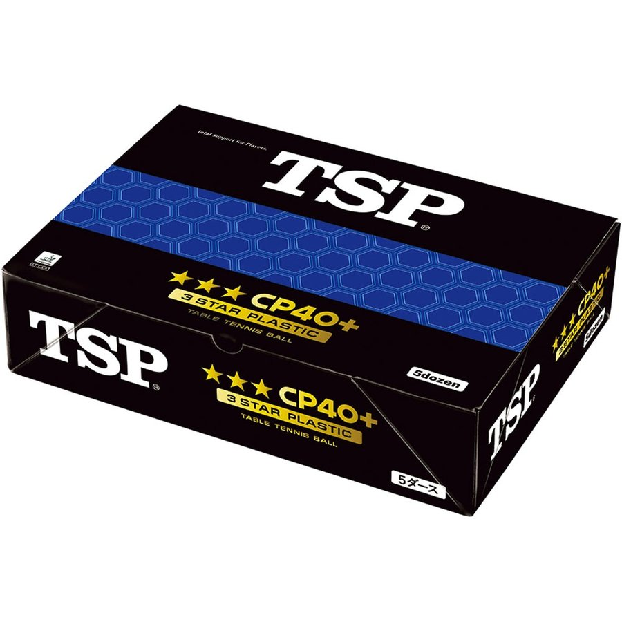 TSP 卓球用ボール CP40+ 3 スターボール 5 ダース入り 014060