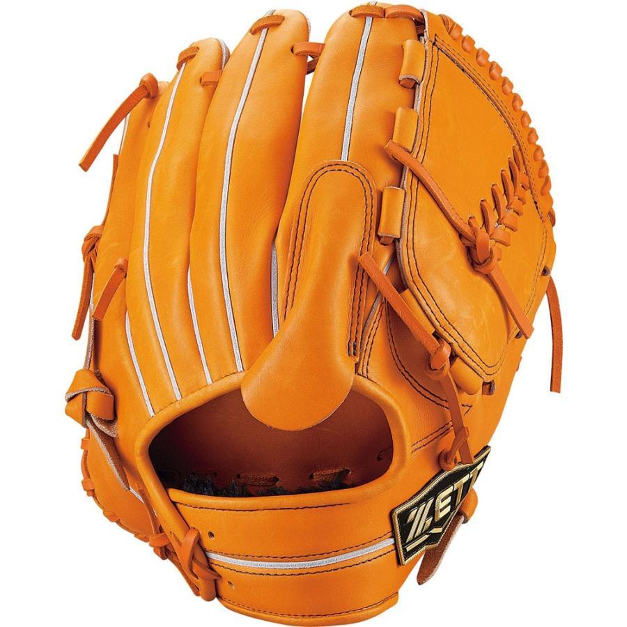 ZETT ゼット 野球 軟式グラブ 投手用 ネオステイタス BRGB31911 オレンジ