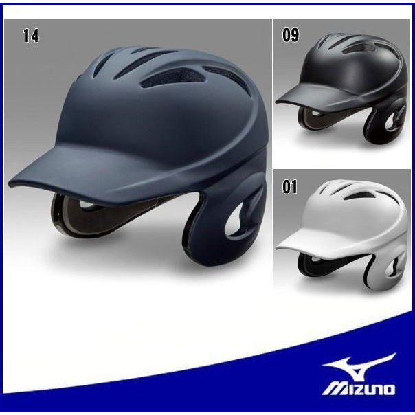 野球 ヘルメット 両耳【ミズノ】1DJHH108 MIZUNO  ヘルメット(硬式用)両耳付打者用(1DJHH107のつや消しタイプ)
