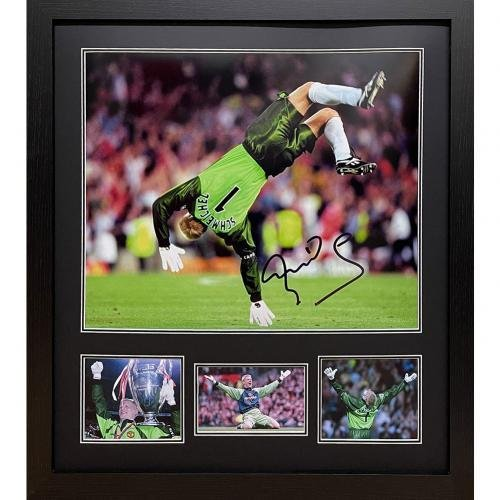 Manchester United FC Schmeichel Signed Framed Print / マンチェスター·ユナイテッドFCシュマイケ