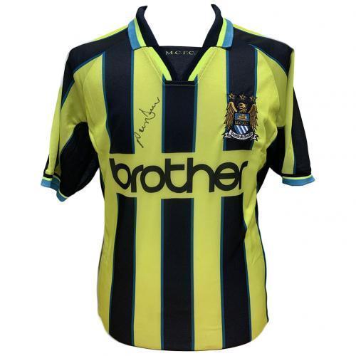 Manchester City FC Dickov Signed Shirt / マンチェスター·シティーFC Dickov署名付きシャツ