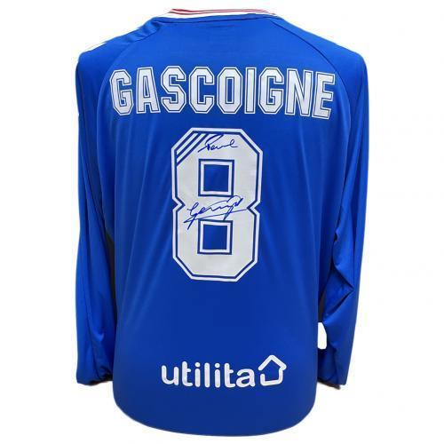 Rangers FC Gascoigne Signed Shirt / レンジャーズFCガスコイン署名付きシャツ