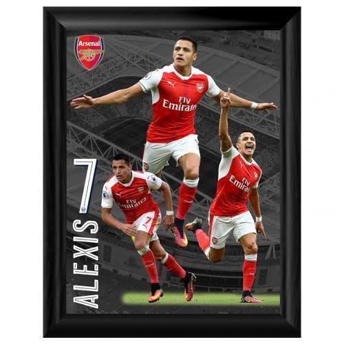 Arsenal F.C. Framed Print Sanchez 16 x 12 / アーセナルFC額入りプリントのサンチェス16×12