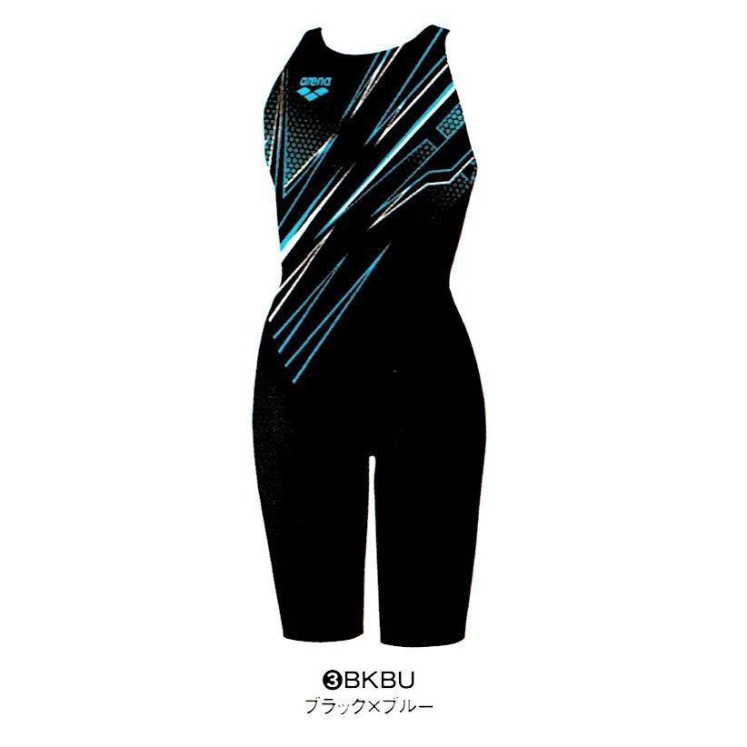 【特別価格・45%OFF】アリーナ 競泳水着 FAR7544W BKBU サイズ女S ハーフスパッツ(クロスバック) FINA承認 2017年秋冬モデル