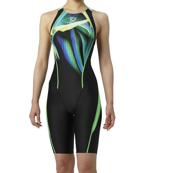 【特別価格・35%OFF】アリーナ 競泳水着 ARN9060W BKGN サイズ女M セイフリーバックスパッツ(着やストラップ) FINA承認 2019年春夏モデル