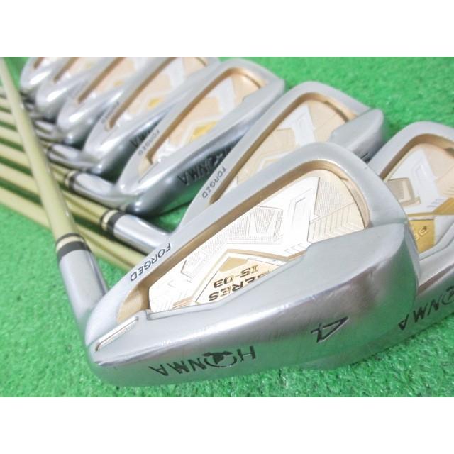 本間ゴルフ ベレス BERES IS-03 2星 2S アイアンセット 8本 #4-11 ARMRQ8 49(SR) JP