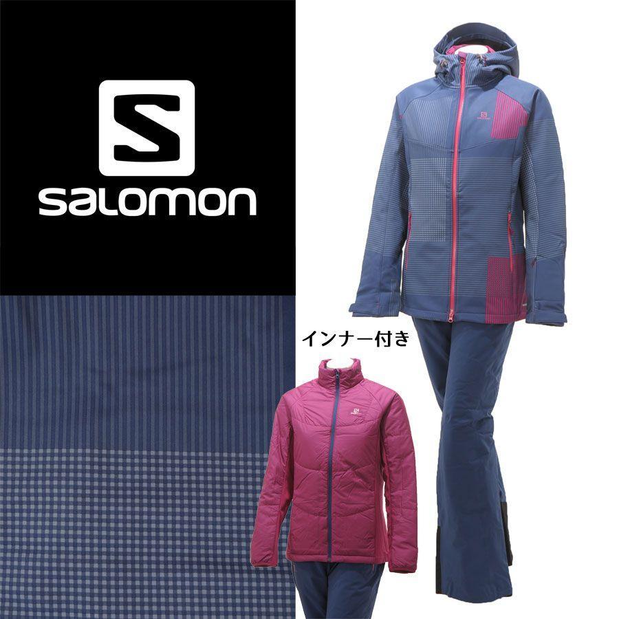 【超歓迎】 SALOMON(サロモン) L36365400/L36618400 レディース 中綿インナー付き スキーウェア 上下セット ソフトシェル☆PPL, モノウチョウ f9b87f97