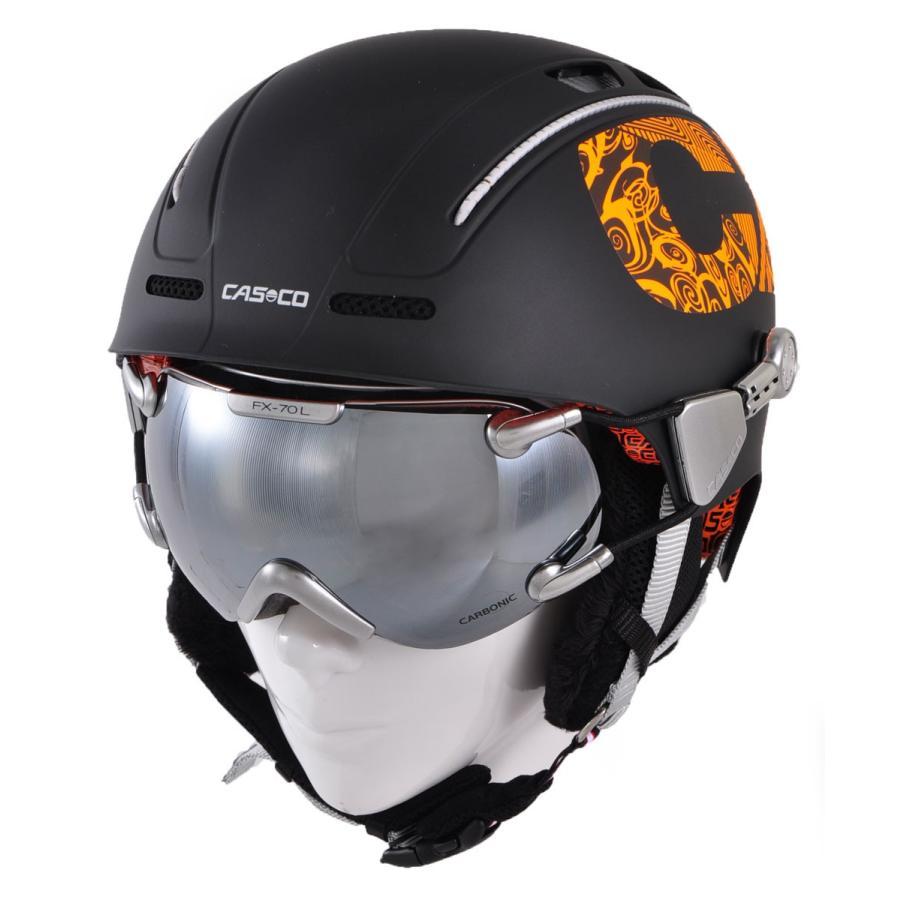 【送料関税無料】 CASCO(カスコ) CX-3/FX-70 CX-3 Icecube/FX-70 Carbonic 大人用ヘルメット ゴーグルセット, やまぼうし 25be2b62