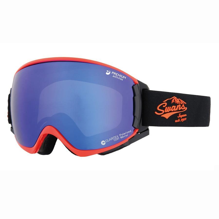 SWANS(スワンズ) ROVO-MPDH-SC-MIT-PAF 処分 SALE スノーゴーグル ヘルメット対応 球面ダブルレンズ 偏光レンズ