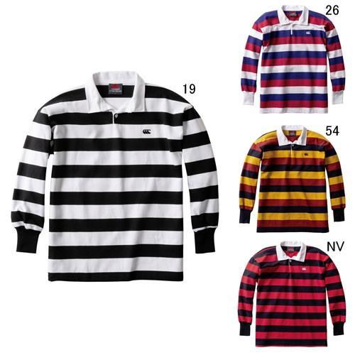 ラガーシャツ 長袖 メンズ カンタベリー canterbury NZ ストライプ ラグビージャージ 男性用 ラグビー ニュージーランド製 ポロシャツ 紳士服 RA98001 セール