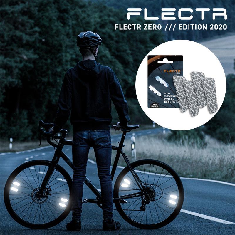 自転車 リフレクター FLECTR ZERO フレクタ ゼロ 反射板 シールタイプ 交通安全 安心 事故防止 通勤 通学 夜間 高輝度 軽量 かっこいい 簡単 ドイツ製 メール便|sportsimpact
