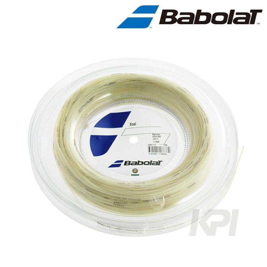 『即日出荷』「2017新製品」BabolaT バボラ 「Xcel エクセル 125/130 200mロール BA243110」硬式テニスストリング ガット